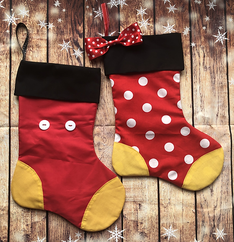Mickey and Minnie inspired Christmas Stockings