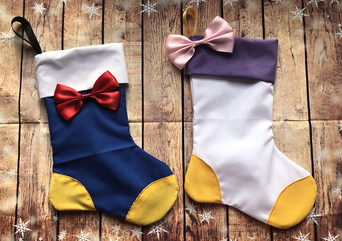 Donald and Daisy inspired Christmas Stockings