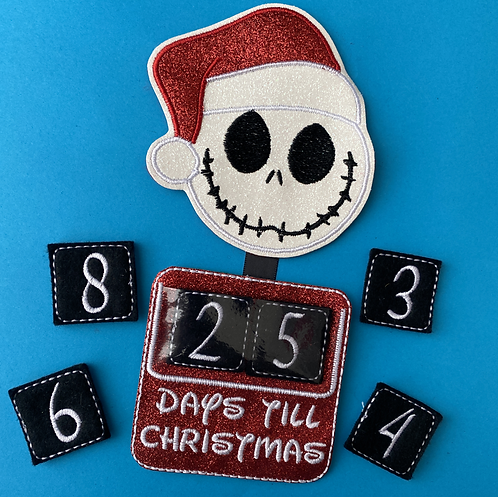 One Month - Christmas Embroidered Countdown