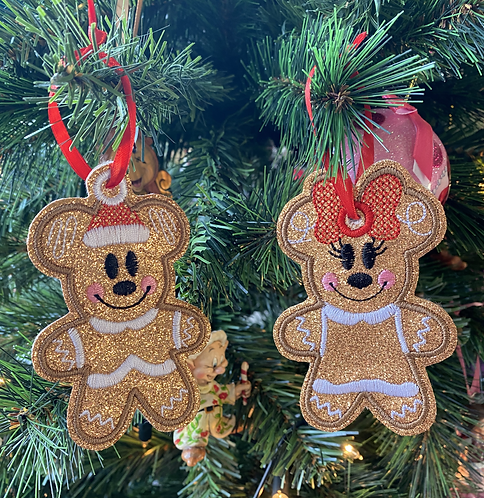 Christmas Gingerbread People Decorations