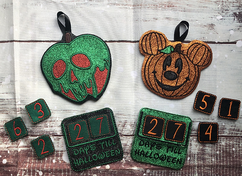 99 Days - Embroidered Countdown