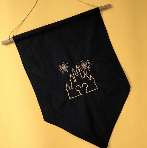 Castle Fireworks - Pin Display Flag