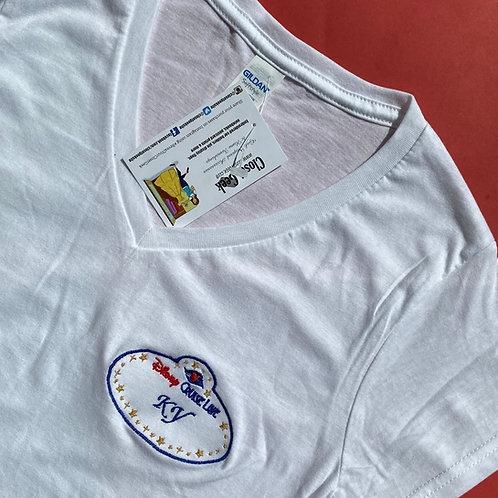 Personalised Cruise Cast Member badge inspired t-shirt