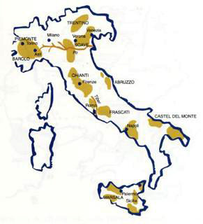 Kart over Italia