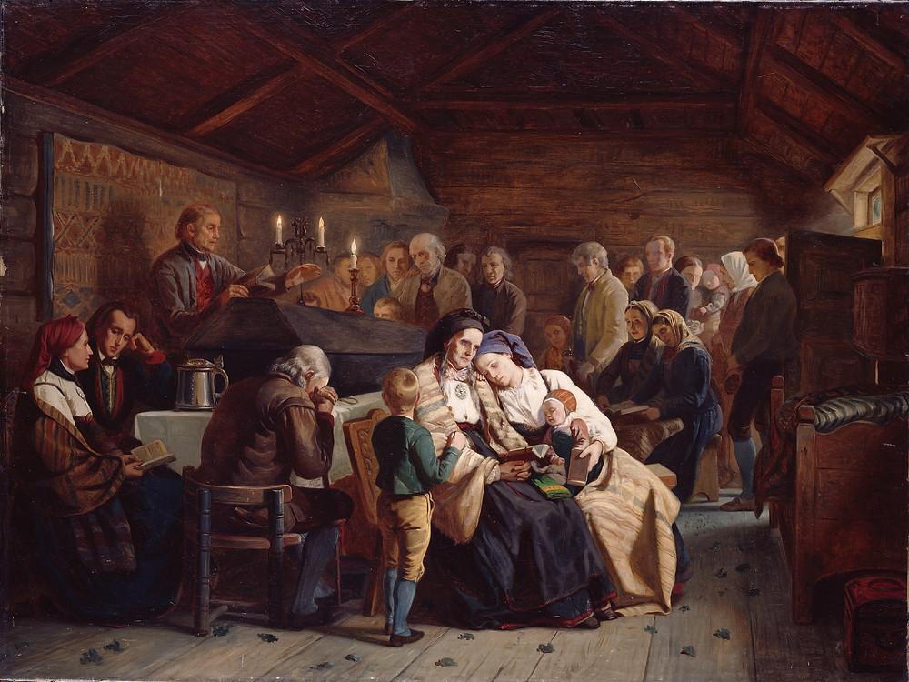 """""""Gravøl"""" Adolph Tidemand (1814-1876) Nasjonalmuseet"""