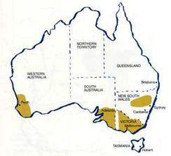 Vindistrikter i Australia