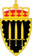 Statlig militært våpenmerke med kongekrone