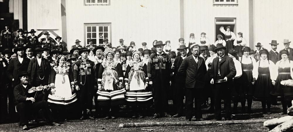 Bryllup fra Valle Sætersdalen