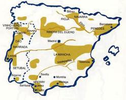 Vindistrikter i Spania