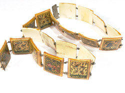 1940s persian hand-painted belt