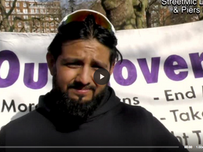 Omar Ahmed Labour Councillor backs Piers for Mayor at Hyde Park Rally 04.04.21