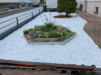 Vorgarten mit weissen Steinen.jpg