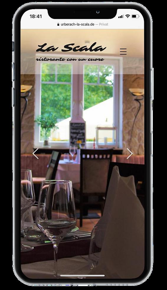 Ristorante La Scala Homepage Responsive Design on iPhone X © Philip Michael Gumprecht
