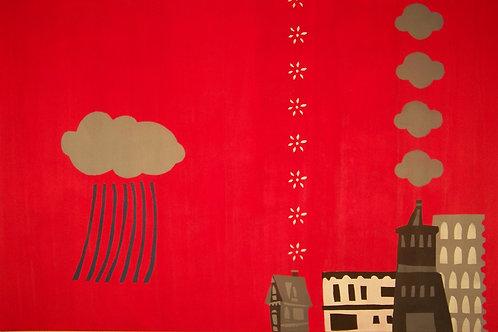 blue rain red sky