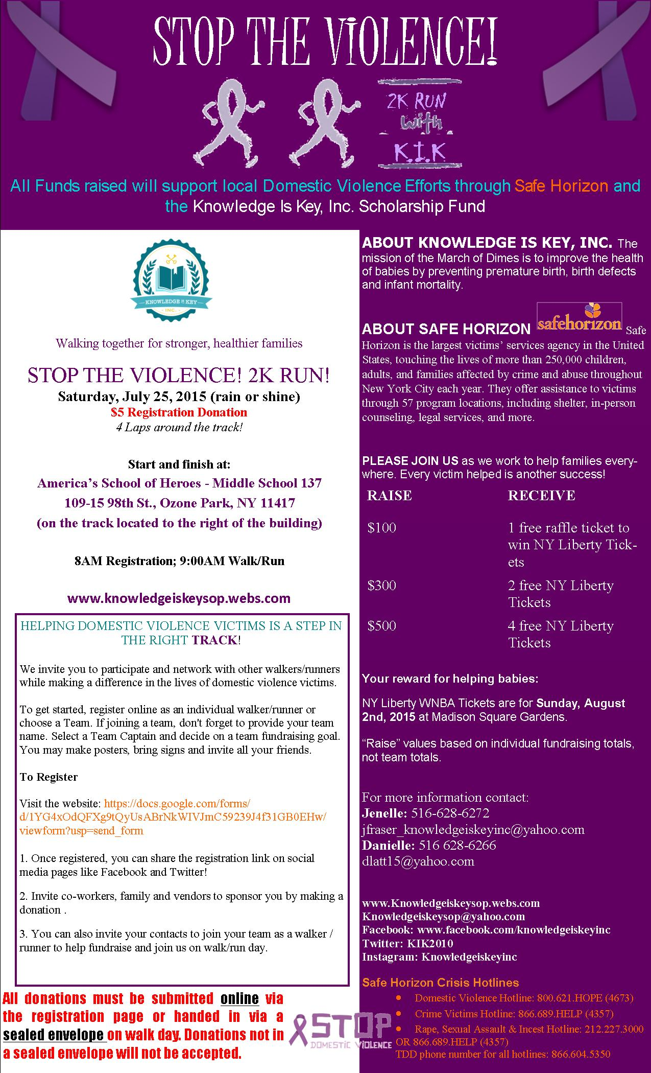STOP THE VIOLENCE FLYER