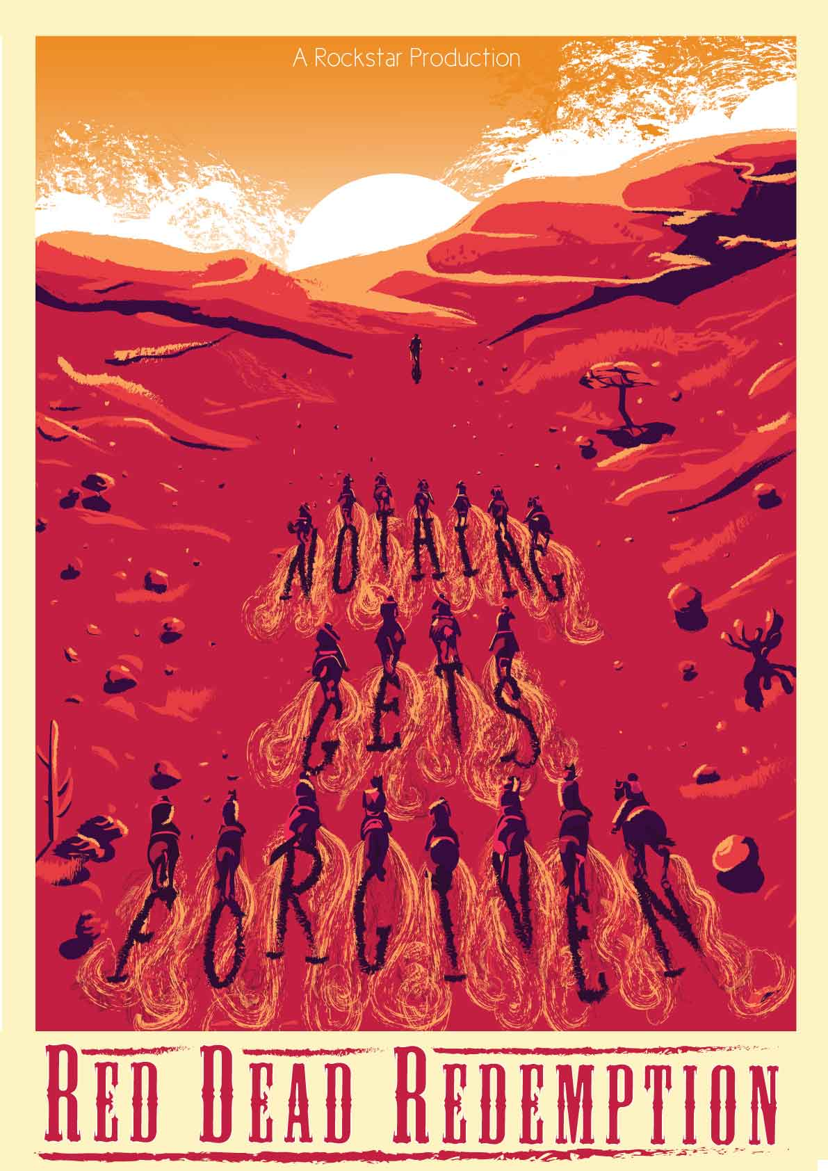 Red Dead Redemption Poster