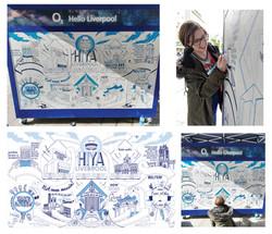 O2 Mural- Celebrate Liverpool