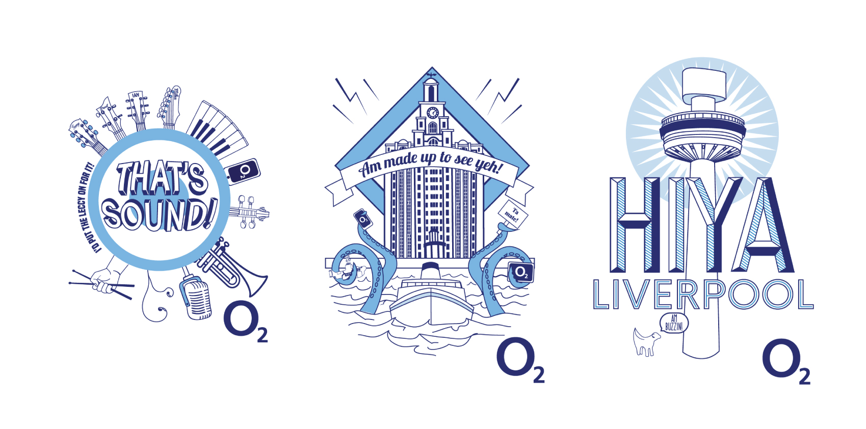 O2 Celebrate Liverpool Merch Design