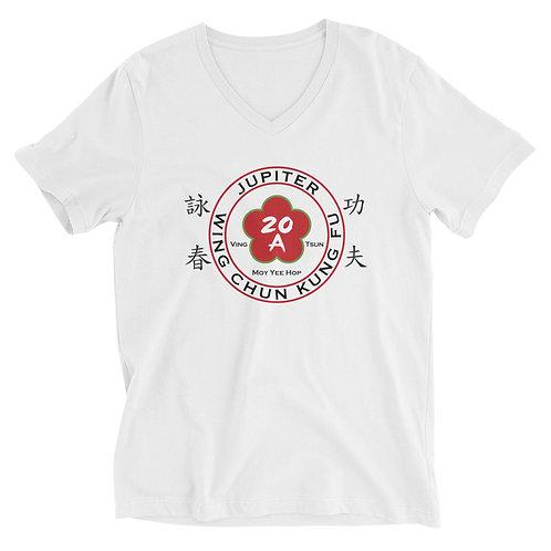 Womens Unisex Short Sleeve V-Neck T-Shirt