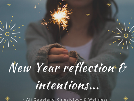 New Year Reflection and Intentions...