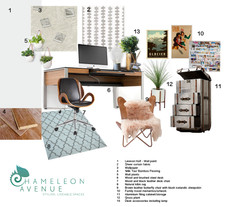 Industrial style office / study