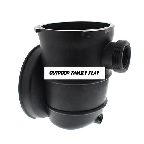 Splash Pool Pump Strainer Housing w/ Optional Drain Plug & Basket