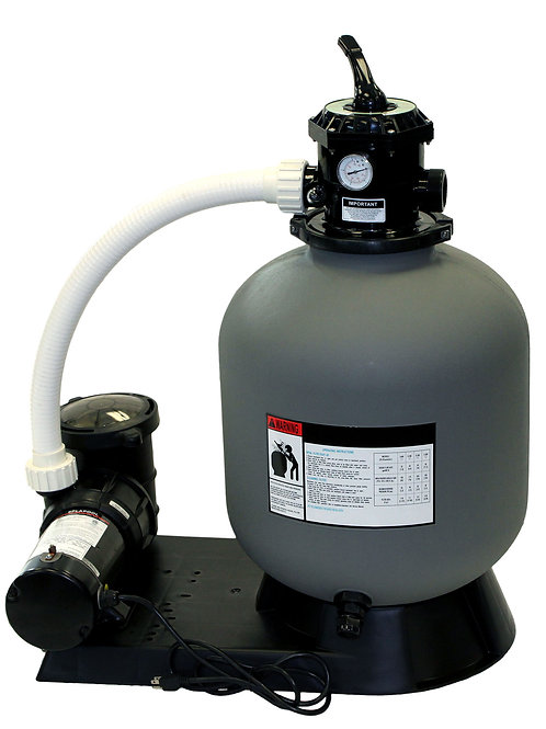 "Splash 19"" Sand Filter System with 1 HP Pump"