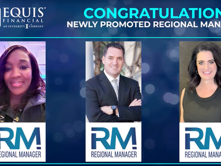 3 Agents Promoted to Regional Manager in August 2020!