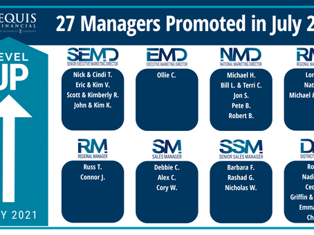 27 Managers Promoted in July 2021!