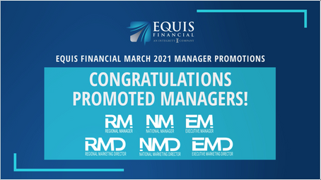 1 Regional Marketing Director, 1 National Manager, and 4 Regional Managers Promoted in March 2021!