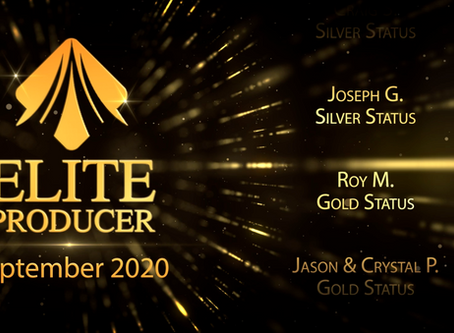 13 New Elite Producers Promoted in September 2020!