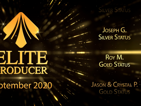8 Silver Elite Producers, 6 Gold Elite Producers, and 4 Diamond Elite Producers Promoted!