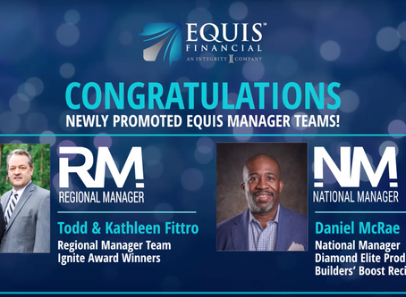 1 Regional Manager Team and 1 National Manager Promoted in September 2020!
