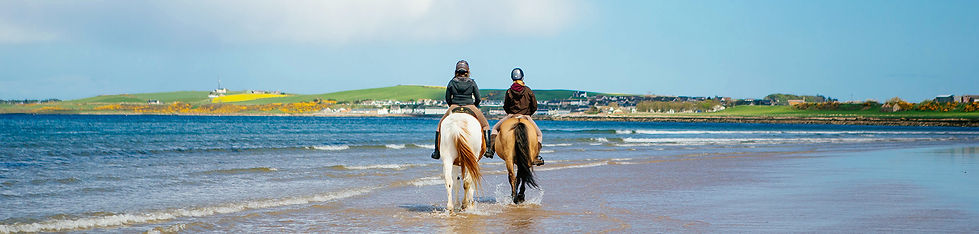 Horse riding on the beach in Scotland
