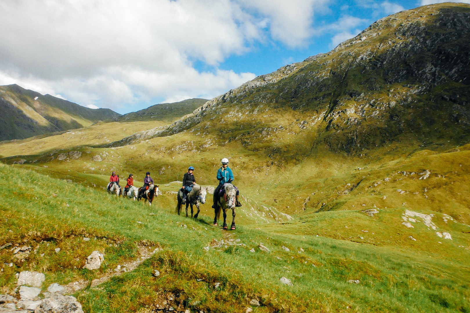 Riding to Achfarry