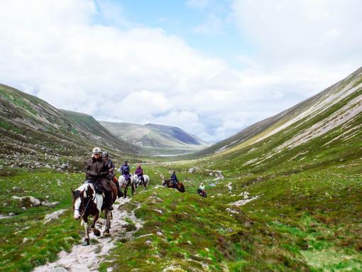 Riding through the Glen