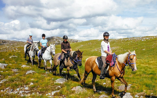 Horse riding in the Highlands