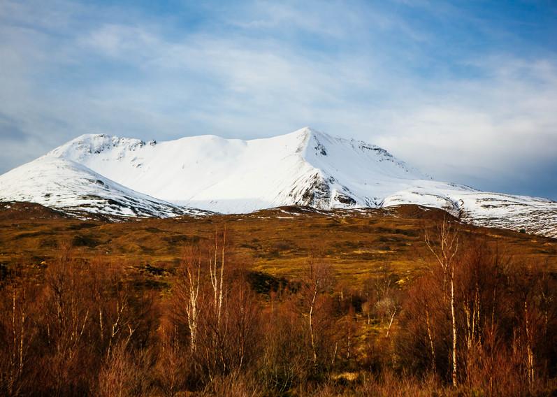 Snowy highland hills