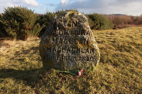 Clan stone at Culloden