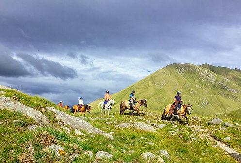 Horse rides through Glen Affric