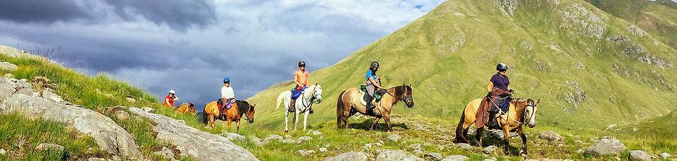 Horse trekking on the West Coast