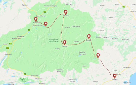 Route for Cairngorms horse trekking