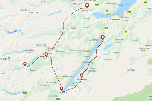 Route for Outlander Horse ride