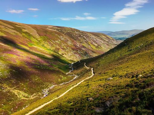 Descending into Glen Esk