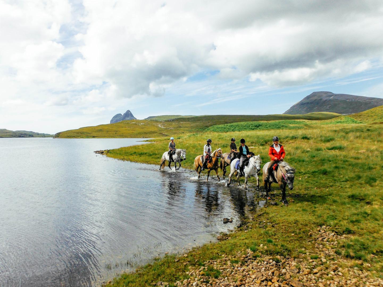 Riding past Suilven
