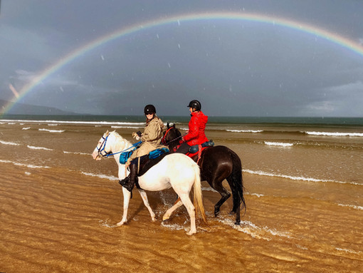 Riding on the beach in Brora