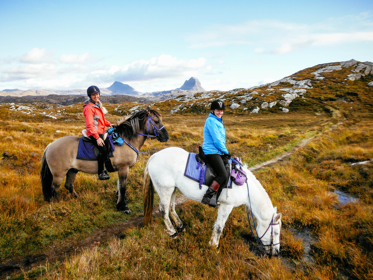 Horse riding holidays near Suilven