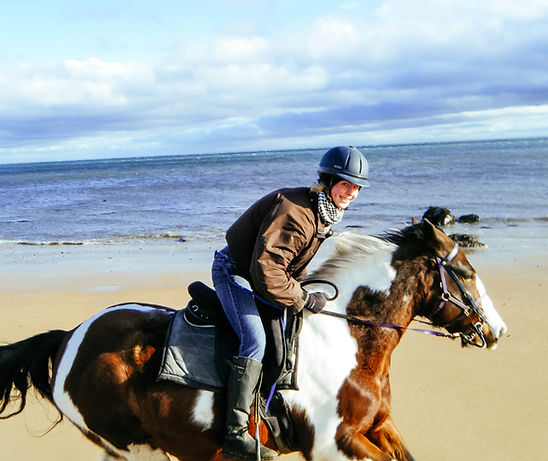 Galloping on the beach at Brora