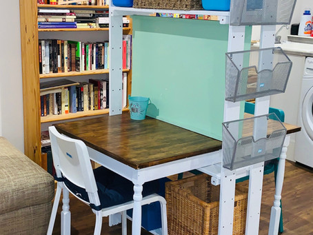 How To Create a Homeschool Work Area With Limited Space