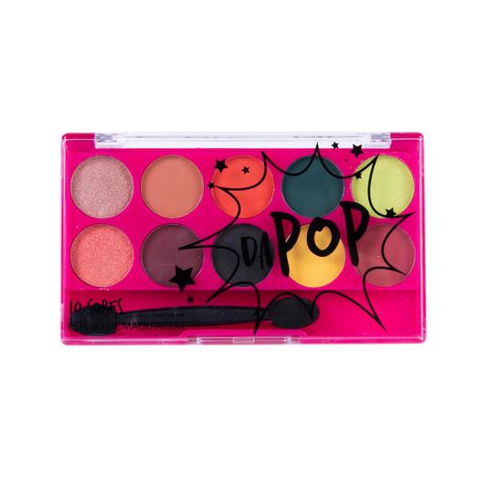 Paleta de Sombras 10 Cores Dapop - HB96625